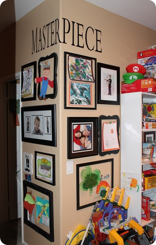 Create a -Masterpiece- wall for your child's art