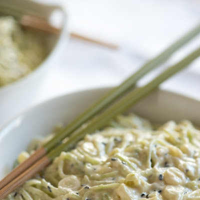 Cucumber Noodles with Coconut Cumin Lime Dressing