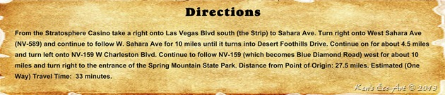 Directions - Spring Mountain Ranch State Park
