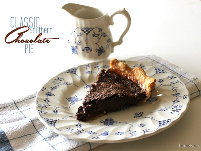 Southern Chocolate Pie Recipe
