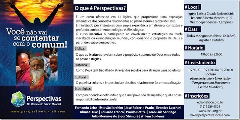 Flyer PSP Campinas perspectivas