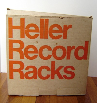 Heller Record (LP) Racks by Giotto Stoppino for Heller box, front