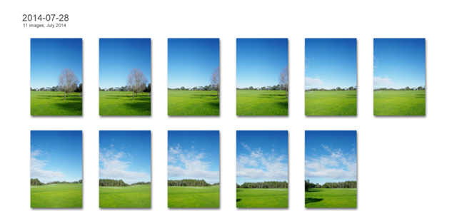 This is another Picture Collage view called Contact Sheet