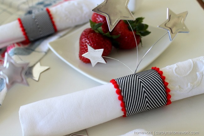 Patriotic Napkin Rings with Stars via homework ~ carolynshomework (11)