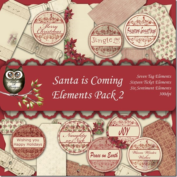 Santa is Coming Elements Front Sheet Pack 2