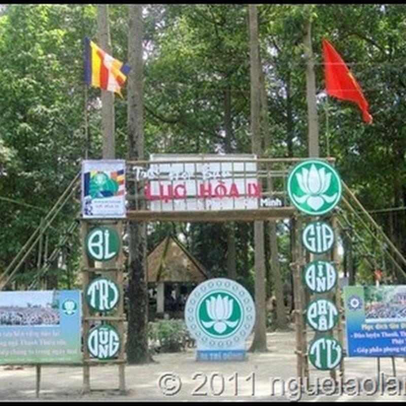 Mẫu cổng trại GĐPT bằng tre tuyệt đẹp
