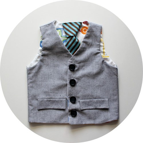 grandpa vest with stripe tie