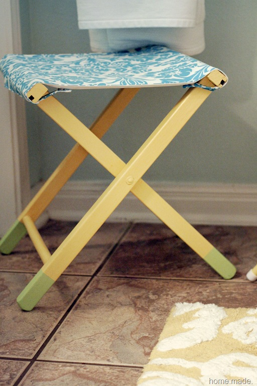 turquoise and yellow stool 1