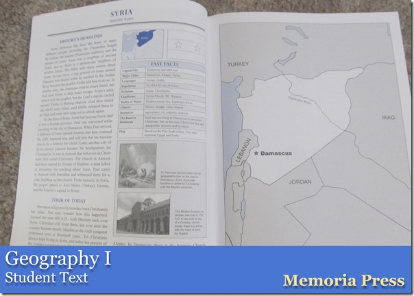 Geography I from Memoria Press Student Text
