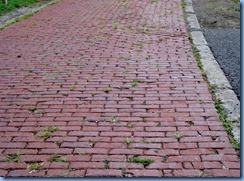 3616 Ohio - Wooster, OH - Lincoln Highway (end of Sylvan Rd) - remnant of original Lincoln Hwy...10 ft wide brick rd with concrete curbs