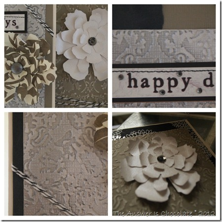 Damask Cards Collage