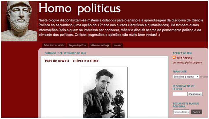Homo politicus, blog de Ciência Política