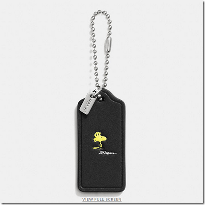 COACH X Peanuts leather hangtag - USD 20 - black 03