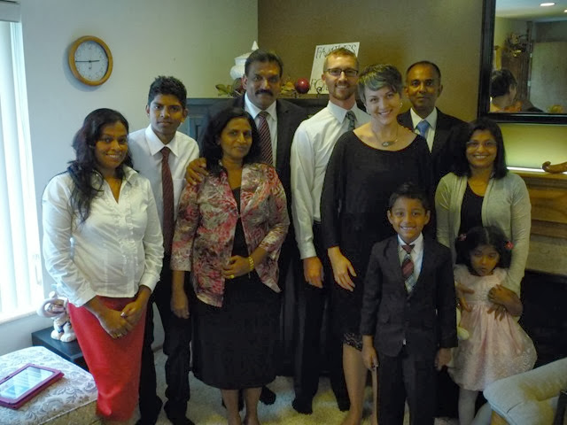 My good friends from Sri Lanka! Very fortunate to have them visit this day while I was in Utah. They were all here for Brother Royce's family - his daughter was getting married, and they were sending his son on a mission!