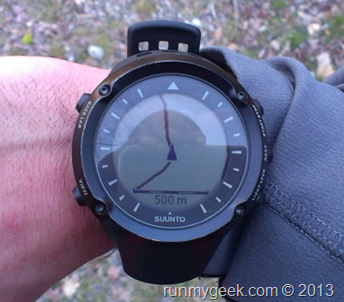 suivi de trace avec la suunto ambit