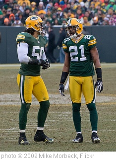 'Nick Barnett (56) and Charles Woodson (21)' photo (c) 2009, Mike Morbeck - license: http://creativecommons.org/licenses/by-sa/2.0/