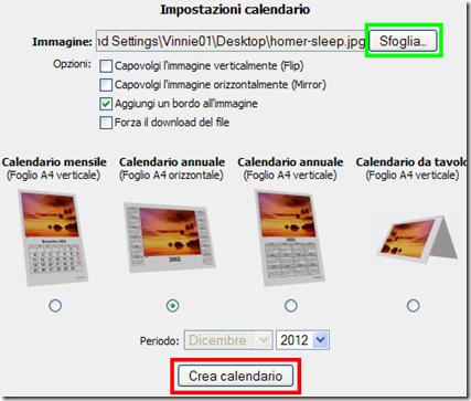Creare al volo calendario online con le proprie foto pronto da stampare o salvare in pdf - Calendario da tavolo con foto proprie ...