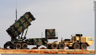 A Patriot missile launcher system is pictured at a Turkish military base in Gaziantep on February 5, 2013. The United States, Germany and the Netherlands committed to send two missile batteries each and up to 400 soldiers to operate them after Ankara asked for help to bolster its air defences against possible missile attack from Syria. AFP PHOTO/BULENT KILICBULENT KILIC/AFP/Getty Images