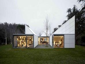 casa moderna cubierta inclinada