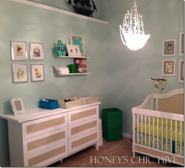 Ikea Hack Blue and Green Nursery baby room
