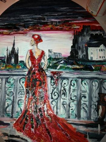 scottish lady in edinburgh