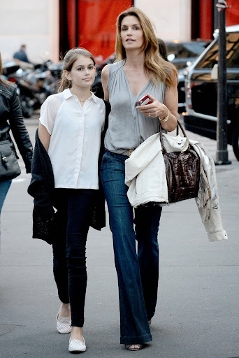 **USA ONLY** *EXCLUSIVE* Paris, France - Cindy Crawford and her daughter Kaia Gerber hit the streets of Paris to shop with friends after they just arrive in paris. France on May 19, 2014  AKM-GSI          May 19, 2014  **USA ONLY**  To License These Photos, Please Contact :  Steve Ginsburg (310) 505-8447 (323) 423-9397 steve@akmgsi.com sales@akmgsi.com  or  Maria Buda (917) 242-1505 mbuda@akmgsi.com ginsburgspalyinc@gmail.com