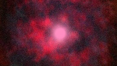 ilustração do vento estelar altamente fragmentado