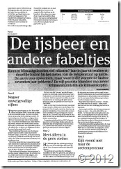 Rypke Zeilmaker Parool IJsbeer Klimaat global warming