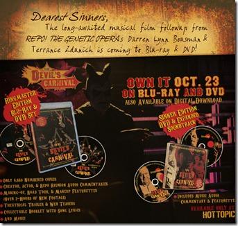 devil's carnival dvd