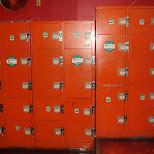 lockers at club complex code in Shinjuku, Tokyo, Japan