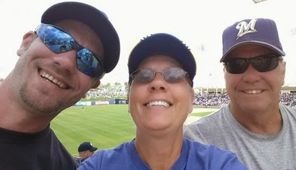 Brewer game with Eric at Maryvale