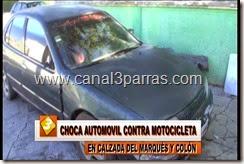 IMAG. CHOCA AUTOMOVIL CONTRA MOTOCICLETA EN CALZADA DEL MARQUES Y COLON.mp4_000048782