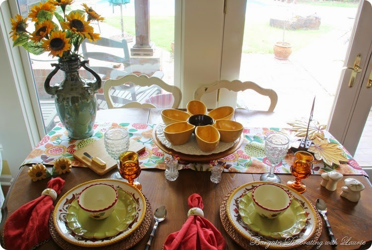 Fall Sunflower Tablescape