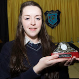 Orla McGonigle, Best Junior Cert at the Mulroy College prize giving on Thursday night last. Photo Clive Wasson.