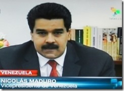 Nicolás Maduro vice-presidente da Venezuela.Mar.2013
