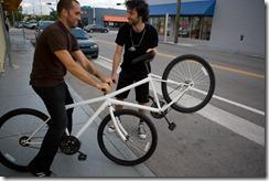 A see-saw bike