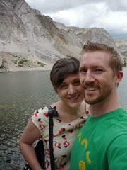 Us at Lake Marie in Medicine Bow National Forest (met 11 years ago this day, Aug 22nd)