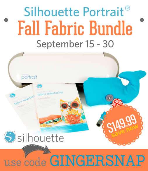 Silhouette Fall Fabric Bundle at GingerSnapCrafts.com #SilhouettePortrait #fabricbundle #ad