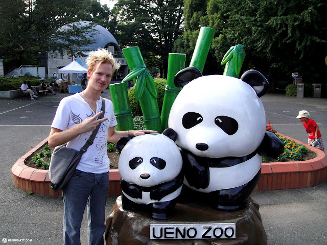 matt at the ueno zoo in Ueno, Tokyo, Japan
