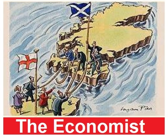 Yes Scotland The Economist draw