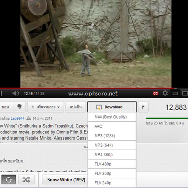 การดาวน์โหลดวีดีโอ Youtube เป็นไฟล์ mp3, mp4 ด้วยเวบบราวเซอร์ Firefox