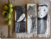 3 Forest Animal Tea Towels