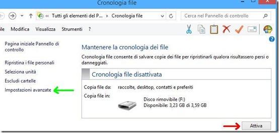 Windows 8 Cronologia file