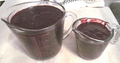 Blackberry jam 1.14.13 strained pulp