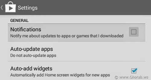 Disable Notification