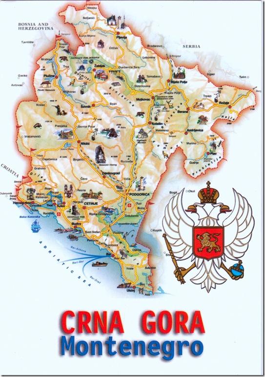 Montenegro mapcard