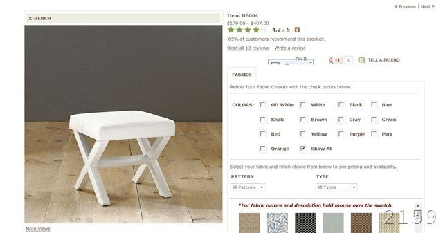 ballard X bench price