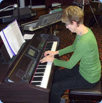 Denise Gunson played straight piano for us on our Clavinova
