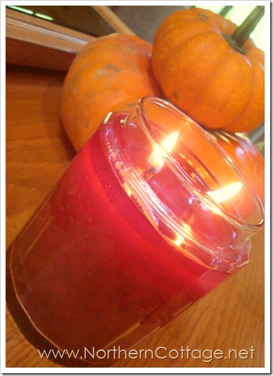 fall candle@NorthernCottage.net