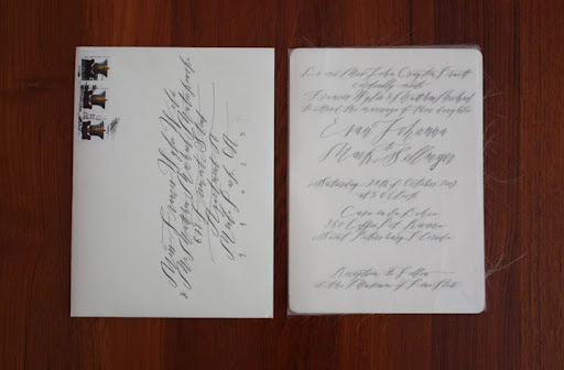 The invitation and outer envelope.
